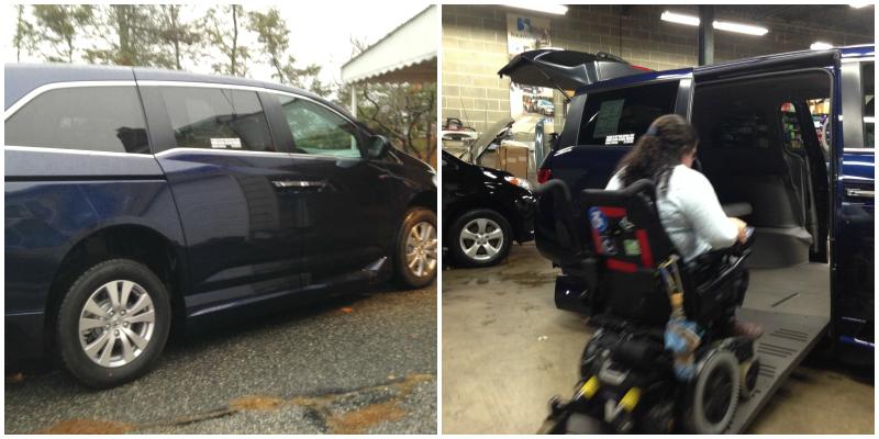 Blue Honda Odyssey Adapted Van