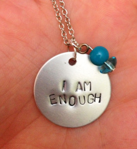 I Am Enough Pendant from The Paper Poppy Store