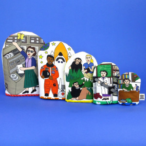 Famous Women Scientists Nesting Hand Puppets